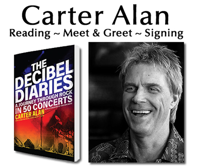 Carter Alan Book Signing - The Decibel Diaries w/musical guests Sarah and the Wild Versatile